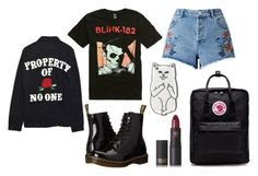 property of no one by kingoliversykes on Polyvore featuring Miss Selfridge, Dr. Martens, Fjällräven, RIPNDIP, High Heels Suicide and Lipstick Queen
