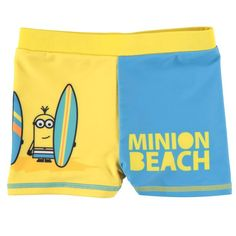 Boys Minion Swimming Trunks