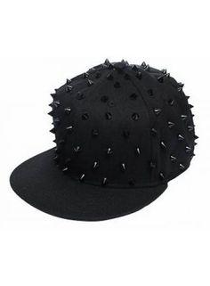 4eeb12d3b0a Huismerk Spike Baseballcap Snapback Cap Zwart Zwart http   www.ovstore.