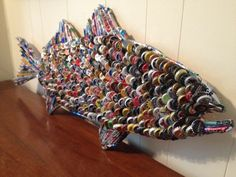 beer+cap+fish+by+rockbottombay+on+Etsy,+$450.00