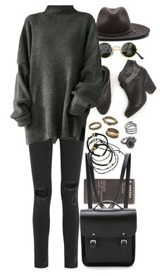 """""""Untitled #8006"""" by nikka-phillips ❤ liked on Polyvore featuring Korres, rag & bone, The Cambridge Satchel Company, Scosha, Forever 21 and Mudd"""