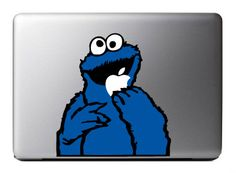 cookie monster macbook sticker - Google Search. paint this on your macbook