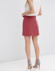 Scallop Hem Mini Skirt / Lydia Martin Style Guide
