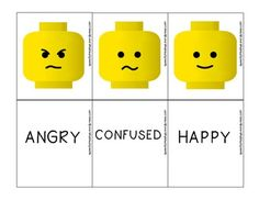 Free! Lego Emotion Memory Match - 16 cards!
