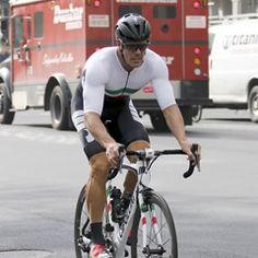 Italian former professional road cyclist Mario Cippolini rides through NY Central Park (334740)