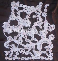 Ivelise Feito à Mão: Meus Trabalhos: Blusa com Crochê Irlandês em Modelagem Maior....