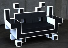 Cool Geek Stuff | Cool Furniture for Geeks: Space Invader's Couch