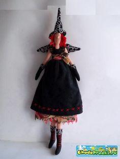 Кукла Тильда Ведьмочка. Мастер класс и выкройка