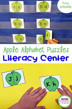 These free fall apple alphabet puzzles are super fun and engaging learning activity! They're versatile too – they can be used as a small group game, independent activity, literacy center, or even in a pocket chart! Besides, this literacy activity for Pre-K & Kindergarten is quick and easy to prepare! Beginning Of Kindergarten, Kindergarten Math Activities, Literacy Skills, Literacy Centers, Preschool, Fun Learning, Learning Activities, Small Group Games, Apple Life Cycle