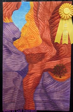 Antelope Canyon by Georgia Heller. 2016 Quilt Arizona!  Photo by Quilt Inspiration.