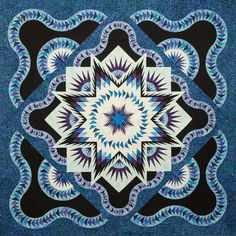 Glacier Star ~ Quiltworx.com, made by CI Janet Spinks
