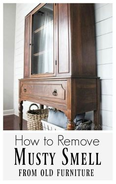 Easy 3 ingredient recipe to get rid of that gross musty old furniture smell. Good to know if you love your antique furniture!