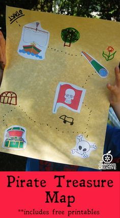 MRS Camp DOYLE - pirate map activity (but let them draw their own pictures) Preschool Pirate Theme, Pirate Activities, Summer Camp Activities, Map Activities, Preschool Activities, Preschool Pirate Crafts, Motor Activities, Treasure Maps For Kids, Pirate Treasure Maps