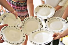 Make DIY personalized plates!