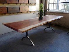 Rare and Unique Redwood single slab dining by LorimerWorkshop