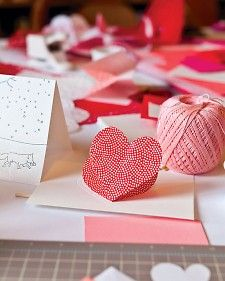 Heart-in-the-Fold Valentine's Day Card | Step-by-Step | DIY Craft How To's and Instructions| Martha Stewart