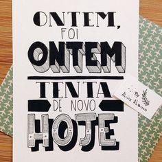 Tente outra vez… #try #tente #invente #foco #coach #life #vida #seriedade #força #vibe #positividade #cartazete #frases (em Dom Pedrito)