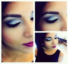Look da @byelencastro do Beauty Team da NYX Manauara feita com a paleta Showgirls Exposed, da linha Love in Rio. Nos lábios, Slim Pencil for Lips Purple Rain e Round Lipstick Violet Ray. A pele foi feita com a linha HD