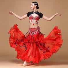 New Arrival 2016 Belly Dance Clothing Outfit Women Costume Beads Bra, Belt, Skirt Oriental Belly Dance Costumes Belly Dance Skirt, Belly Dance Outfit, Belly Dance Costumes, Dance Like This, Harem Girl, Belly Dancers, Dance Outfits, Playing Dress Up, Dance Wear