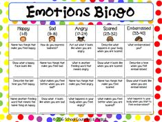 Emotions bingo free download
