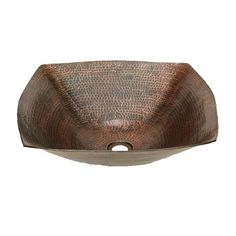 The Degas copper vessel sink by SoLuna is an square hammered copper sink made from a single sheet of thick lead-free copper.