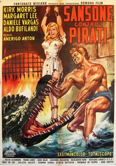 Movie Poster Mondays - Italian poster for SAMSON & THE SEA BEAST