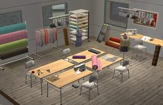 Dream sewing room, fashion studio, and office.  Bigger space to do both!!