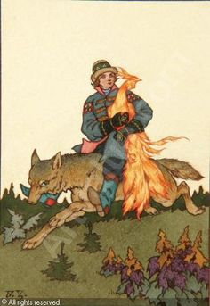 ZVORYKIN Boris Vasilevich - Ivan, The Firebird and Grey Wolf