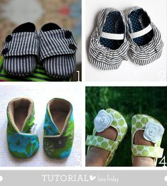 Handmade baby shoes! I love the male pair! Now I just have to convince some of my friends to have a baby... #craft #shoes