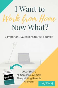 Making the decision to work from home is the easy part, starting a remote job search is where it can get tough. Save time, energy and effort by asking yourself these four important questions before you starting looking for at-home jobs!