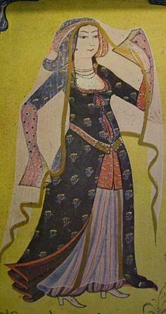 Girl with a veil, Topkapı Palace Museum, Istanbul Source: Süheyl Ünver, Levni, Milli Eğitim Basımevi, Istanbul. Ottoman Court painter Levni (1680-1732) is one of the last representatives of classical Ottoman miniature art.