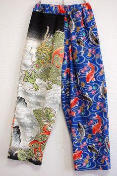 龍と鯉柄メンズリラックスパンツ - 手作り子供服の通販店 「神の手」