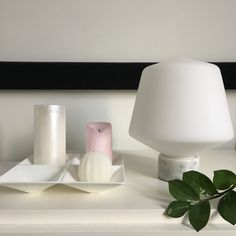 Beautiful table lamp made of glass and marble. Designed by Matti Syrjälä for Sessak interior lighting. Scandinavian Table Lamps, Scandinavian Bathroom, Interior Lighting, Lighting Design, Design Table, Finland, Marble, Wall Lights, Glass