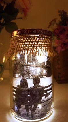 DIY Lit Mason Jar, Lit Mason Jar, DIY Gifts for him, DIY gifts, Valentine gifts…