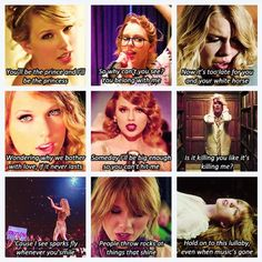 Love Story, You Belong with Me, White Horse, Mine, Mean, The Story of Us, Sparks Fly, Ours, Safe and Sound