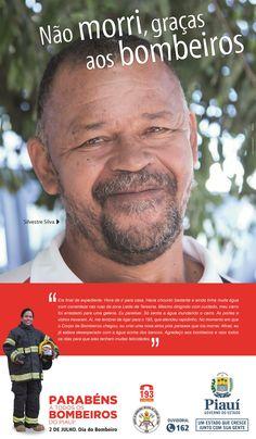 Anúncio III Para Jornal - Dia do Bombeiro 2016 - Cliente Gov. Piauí