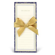 Navy and Gold Notepa