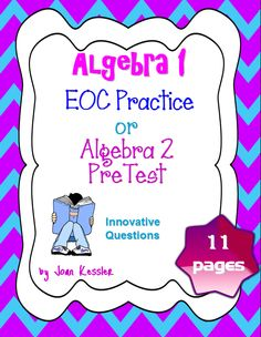 This is a set of 10 warm ups for an Algebra 1 class. Each warm up ...