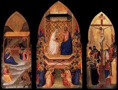 Bernardo Daddi, 1338-1340, Triptych with the Crowning of the Virgin, Gemäldegalerie, Berlin (Germany)