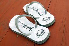 a29efe9c4bc 31 Best Just Married Flip Flops   Wedding Flip Flops images