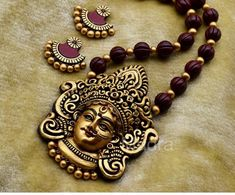 Terracotta Jewellery Making, Terracotta Jewellery Designs, Gold Jewellery Design, Antique Jewellery, Funky Jewelry, Craft Jewelry, Jewlery, Handmade Jewelry, Jewelry Making