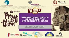 Tomorrow we'll have a joint service of five churches in the Bologna area for IDOP 2016, the International Day of Prayer for the Persecuted Church promoted by the   World Evangelical Alliance and Open Doors.