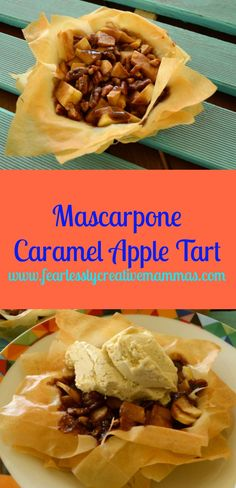 Mascarpone Caramel Apple Tart