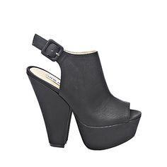 GABBY BLACK women's dress high slingback - Steve Madden