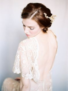 Open Back Bridal Dressing Gown | photography by http://www.michaelandcarina.com/