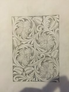 Sheridan Style Floral Flowers Leather Tooling Pattern For