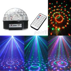 12W RGB LED MP3 DJ Club Pub Disco Party Crystal Magic Ball Stage Effect Light
