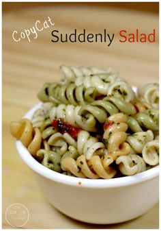 This Copy-Cat Suddenly Salad is my take on the classic pasta salad but homemade! It's quick and easy to make so you'll be in and out of the kitchen and out the door to enjoy the beautiful weather.