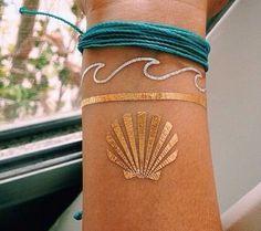 Gold+ silver tattoo