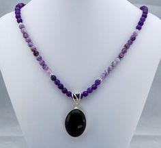 Amethyst & Sterling Silver Pendant Necklace - Statement Necklace - Gemstone Necklace - Beadwork Necklace - February Birthstone http://www.etsy.com/treasury/MTA0OTA5MDh8MjcyNTcyNDc0OA/spring-beauty